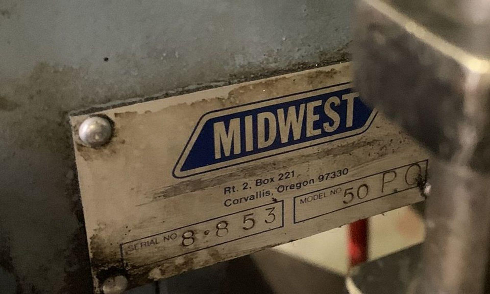 Lot 2 - 50 Ton Midwest Hydraulic Press Single Station Punch Model 50 P.O.
