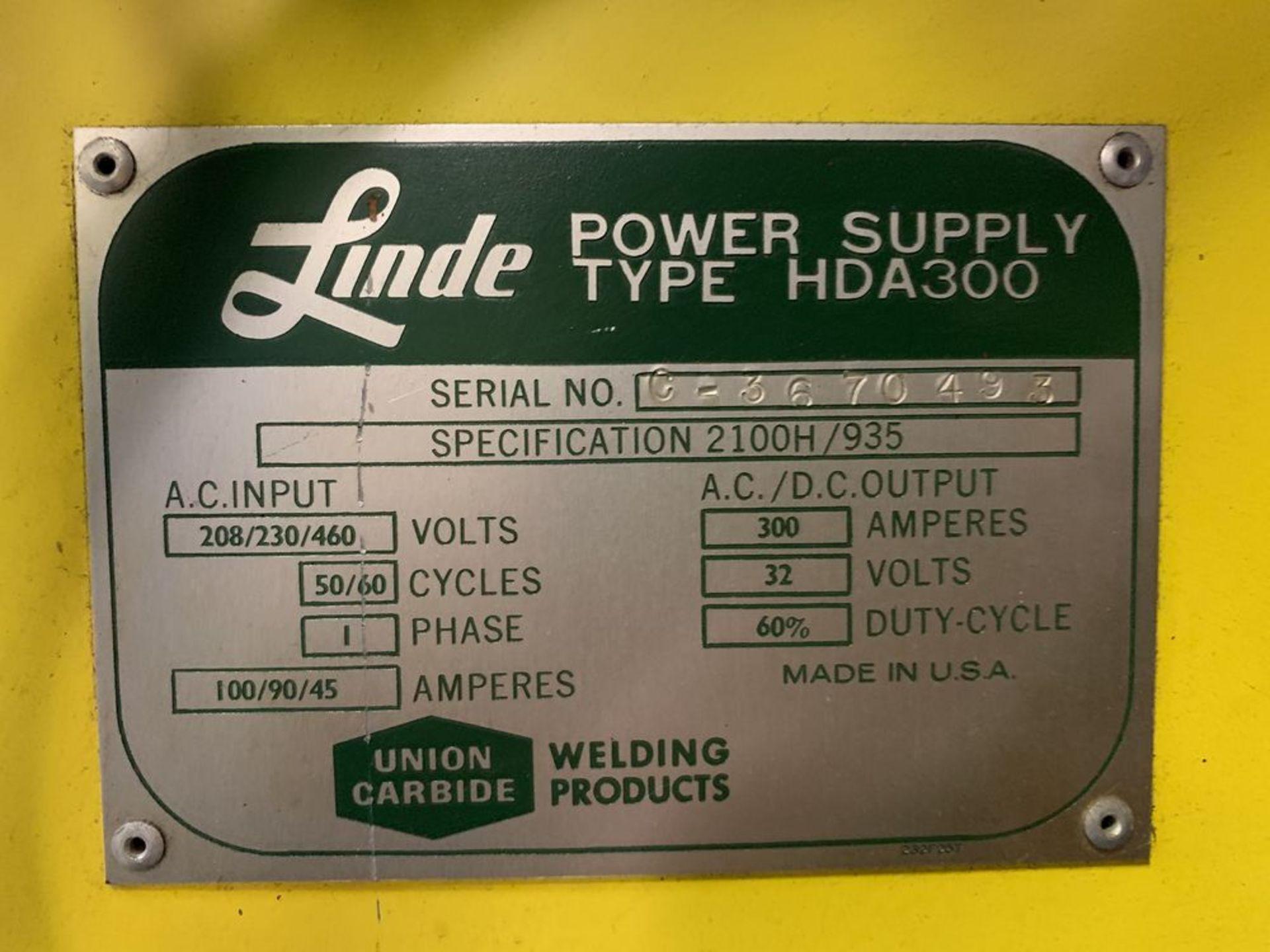 Lot 16 - Union Carbide Linde Power Supply #HDA-300