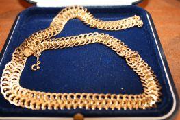 Collier en or jaune 750, maille écaille de serpent - Longueur : 45 cm, Poids : 52,5 [...]