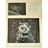 """Lot 8 - Affiche # 6 de la NASA de l'époque d'APOLLO XI """"COMPLEX 39. VEHICLE ASSEMBLY [...]"""