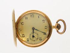 Taschenuhr: hochwertige Goldsavonnette mit 3 Golddeckeln, zugeschrieben Georges Favre-Jacot &