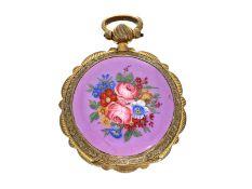 Taschenuhr: feine, seltene Emaille-Taschenuhr, England für den osmanischen Markt, ca. 1830Ca. Ø45mm,