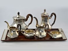 Silber: dekoratives vintage Silberservice mit Tablett, Koninklijke (Royal) Nederlandse Fabrieken van