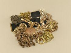 Uhrenketten/Medaillonketten: großes Konvolut antiker Uhrenketten/Medaillonketten10 Ketten