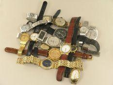 Armbanduhr: großes Konvolut Armbanduhren, überwiegend vintage16 Stück, unterschiedliche Materialien,