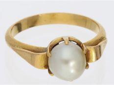Ring: goldener vintage Perlenring, 18K Gold, HandarbeitCa. Ø17mm, RG54, ca. 4,2g, 18K Gold,