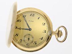 Taschenuhr: schwere Goldsavonnette von feiner Qualität, zugeschrieben Ducommun & Goering/Alpha Watch
