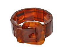 Armband: dekoratives und seltenes Art déco Armband in Form eines Gürtels, Horn oder SchildpattCa.