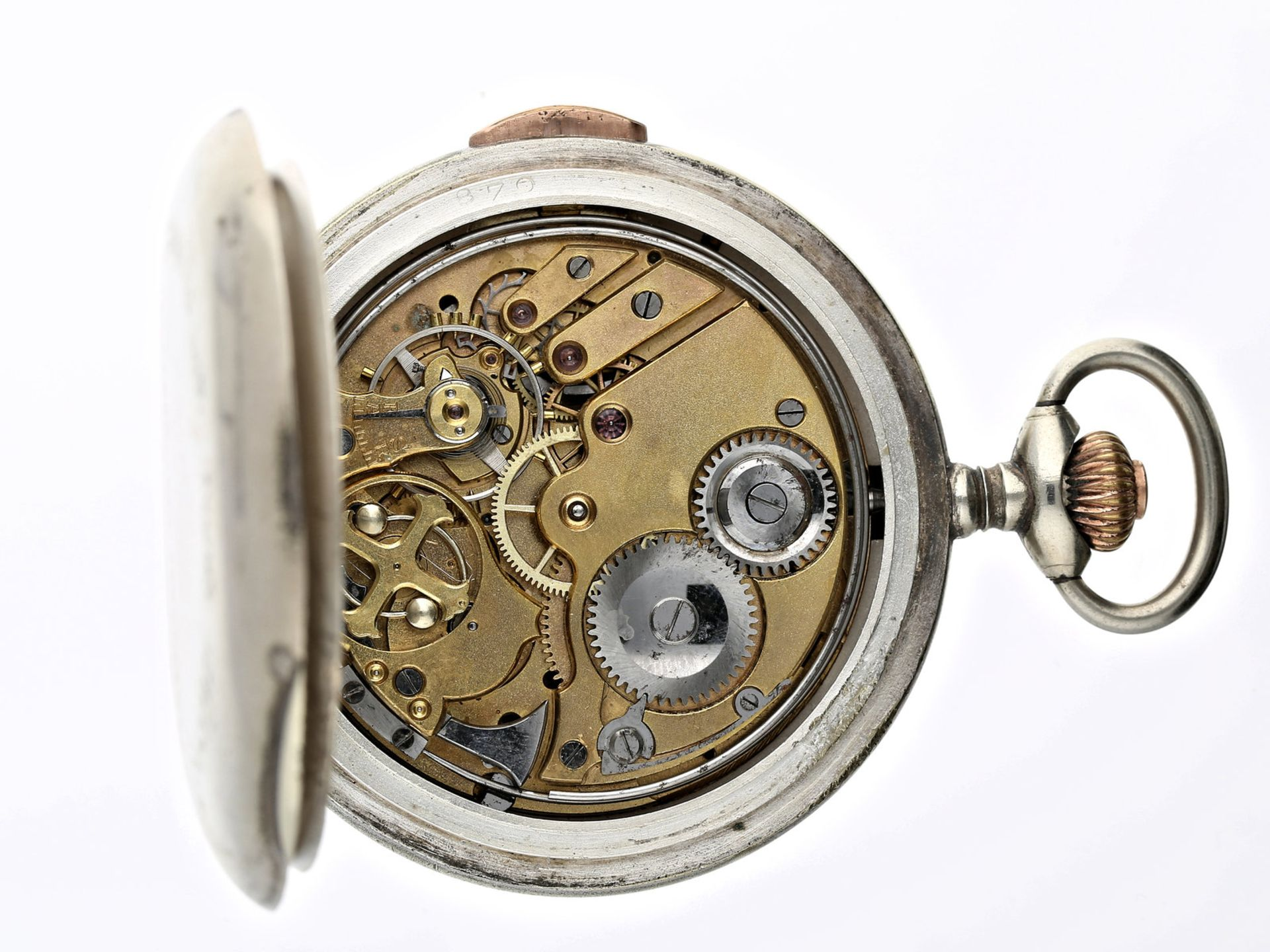 Taschenuhr: äußerst seltene Schweizer Blinden-Uhr mit Repetition, Gedenkausgabe anlässlich der Opfer - Bild 2 aus 2