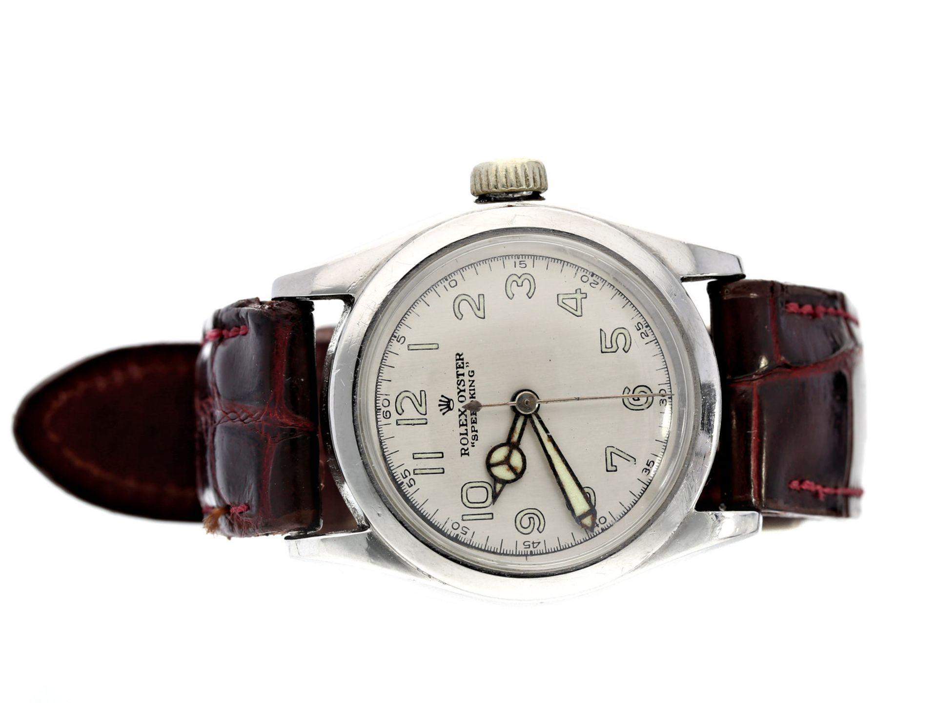 Armbanduhr: seltene, frühe Rolex Herrenuhr, Rolex Oyster Speedking Ref.2280, ca. 1942/43Ca. Ø30mm