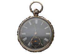 Taschenuhr: einzigartige und besonders prächtige Jugendstil-Relieftaschenuhr mit