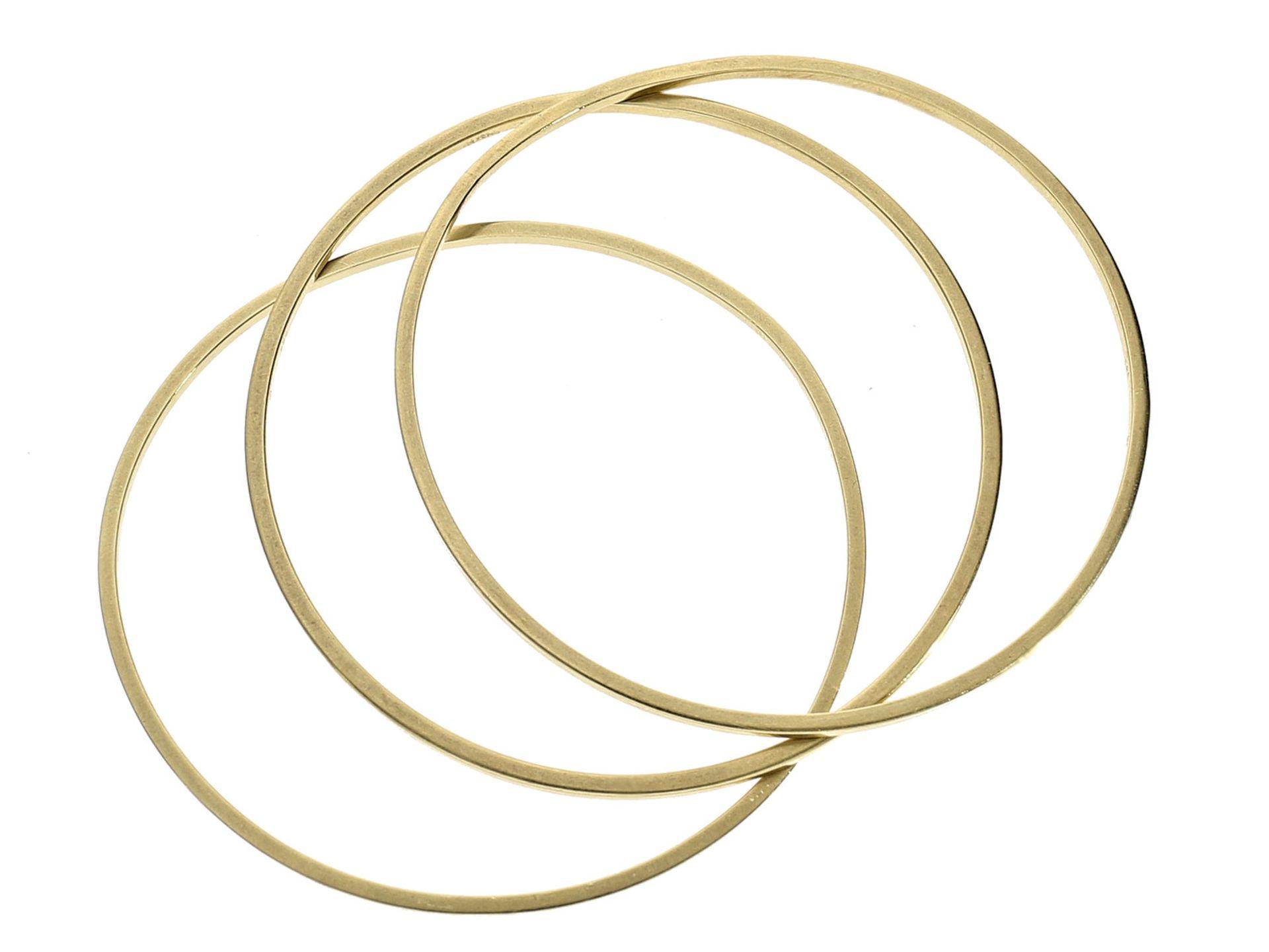 Armreif: 3 goldene vintage Armreife, sehr schöne QualitätCa. Ø65mm, ca. 30,2g, 14K Gold, insgesamt
