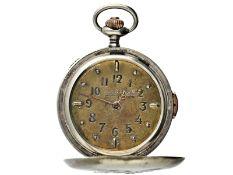 Taschenuhr: äußerst seltene Schweizer Blinden-Uhr mit Repetition, Gedenkausgabe anlässlich der Opfer