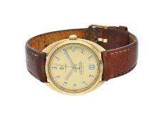 "Armbanduhr: goldene vintage Herrenuhr der Marke ""Candino"", zertifiziertes AutomatikchronometerCa."