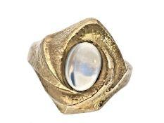 Ring: solider vintage Goldschmiedering mit MondsteinCa. Ø19mm, RG60, ca. 8g, 14K Gold, der