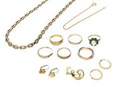 Kette/Collier/Ring/Brosche: Konvolut vintage Goldschmuck 8K/14K GoldKonvolut bestehend aus insgesamt