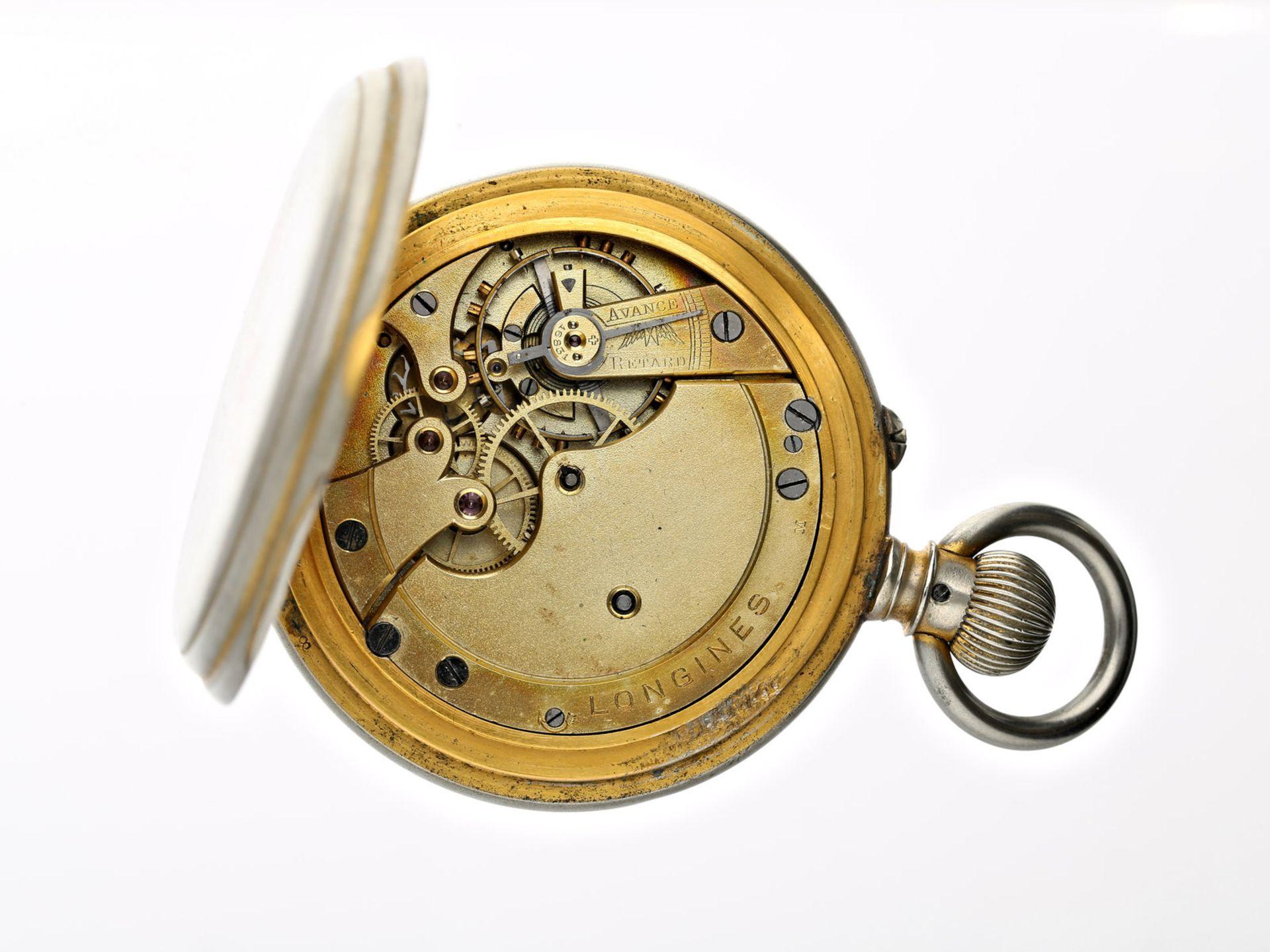 Taschenuhr: interessante und seltene Longines, Ankerchronometer, geliefert an Leuschars & Son, ca. - Bild 2 aus 2