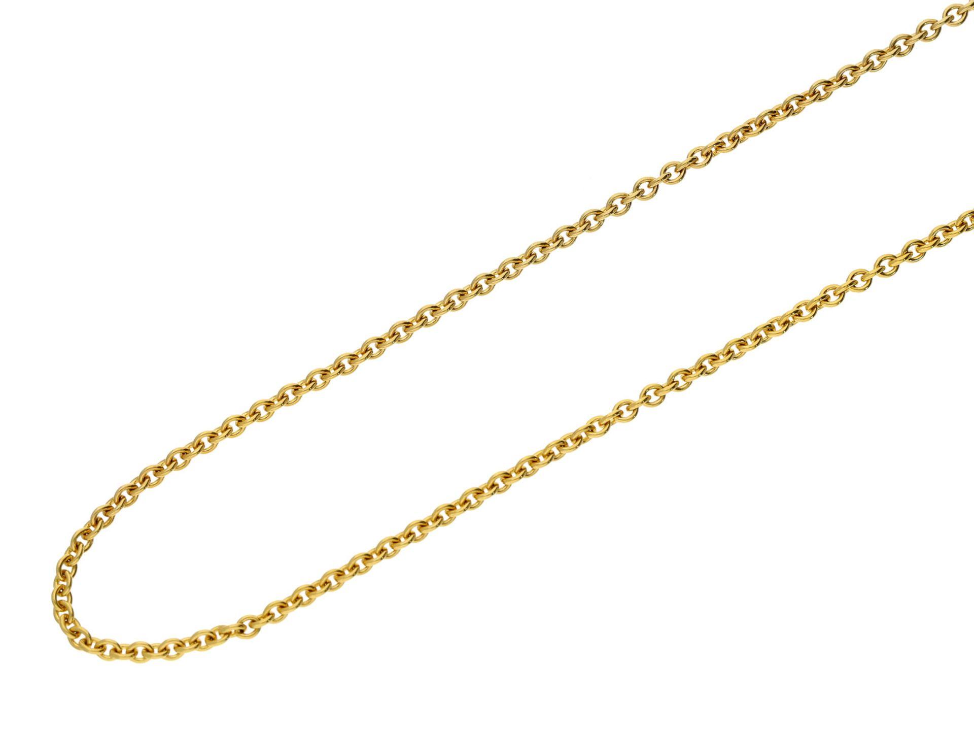 Kette/Collier: solide gefertigte Collierkette im AnkermusterCa. 70cm lang, ca. 10,5g, 14K Gold,