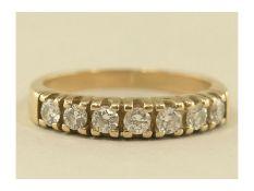 Ring: ehemals teurer vintage Halb-Memoire-Ring mit BrillantenCa. Ø17mm, RG53, ca. 3,1g, 14K Gold,