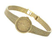 """Armbanduhr: goldene vintage Damenuhr der Marke """"Ebel""""Ca. 18,5cm lang, ca. 26,8g, 14K Gold,"""