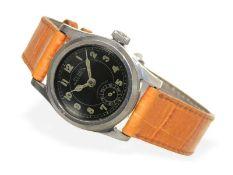 """Armbanduhr: sehr seltene """"Huber Nautica"""" in Edelstahl, vermutlich Militäruhr der 30er JahreCa."""