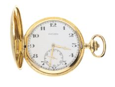 Taschenuhr: hochwertige Ulysse Nardin Goldsavonnette, um 1915Ca. Ø52mm, ca. 91g, 18K Gold,