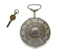 Taschenuhr: besonders große und frühe Spindeluhr für den osmanischen Markt, Benjamin Barber