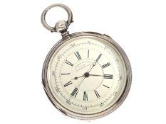 Taschenuhr: früher englischer, extrem schwerer Chronograph mit Schlüsselaufzug und Kette/Schnecke,