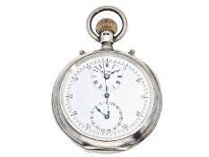 Taschenuhr: extrem seltenes und interessantes englisches Beobachtungschronometer mit Chronograph und