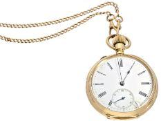 Taschenuhr: ganz frühe A. Lange & Söhne Taschenuhr mit goldener Uhrenkette, No.24401, ca.1885Ca.