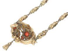 Kette/Collier: antikes Collier/Kropfkette aus dem 19. Jh., vermutlich deutschCa. 34cm lang, ca.