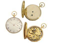 Taschenuhr: seltene und feine Taschenuhr mit Repetition und Sekunde, signiert Moulinie a Geneve,