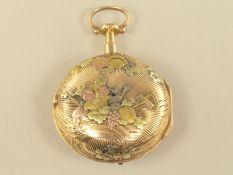 Taschenuhr: äußerst dekorative und sehr seltene 4-Farben-Gold-Taschenuhr mit Repetition a toc et a