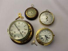 Marinechronometer/Schiffsuhr/Barometer: Konvolut nautischer Instrumente aus dem Nachlass eines