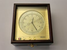 Marinechronometer: seltenes Seiko Marinechronometer QM-20, No. 10521, komplett originaler,