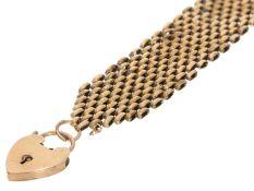 Armband: antikes, rotgoldenes Armband, England um 1920Ca. 20cm lang, ca. 2,5cm breit, ca. 36g, 9K