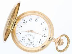 Taschenuhr: schöne große 14K Gold Savonnette der Marke Teutonia, Schweiz ca. 1910Ca. Ø55mm, ca.