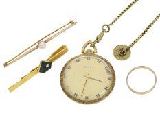 Taschenuhr/Stabnadel/Ring: Konvolut vintage Schmuck sowie Zentra TaschenuhrKonvolut bestehend aus