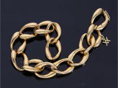 Armband: neuwertiges und modernes GoldschmiedearmbandCa. 20,5cm lang, ca. 14mm breit, ca. 19,7g, 14K