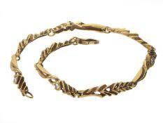 Armband: interessantes und außergewöhnliches Designer-Goldschmiedearmband mit BrillantbesatzCa. 19cm