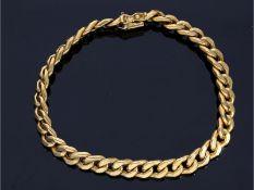 Armband: goldenes vintage Panzerarmband, 18K Gold, ungetragenCa. 21,5cm lang, ca. 7mm breit, ca.16,