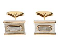 Manschettenknöpfe: äußerst hochwertige und ausgefallene Bicolor-Goldschmiedearbeit, neuwertig und