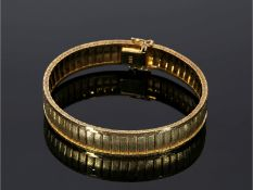 Armband: ausgefallenes, neuwertiges vintage GoldschmiedearmbandCa. 18,5cm lang, ca. 11mm breit,