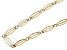 Kette/Collier: interessantes, hochwertiges Collier aus 14K Gold, vintageCa. 43,5cm lang, ca. 6mm