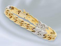 Armband: modernes und hochwertiges Brillant/Goldschmiedearmband, feinste Brillanten von ca. 0,