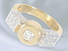 Ring: dekorativer Brillant-Goldschmiedering aus dem Hause Wempe, ca. 0,7ctCa. Ø17,5mm, RG55, ca. 8,