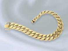 Armband: breites vintage Panzerarmband, solide Handarbeit aus 14K GoldCa. 18,5cm lang, ca. 11,5mm