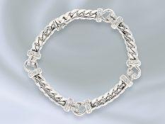 Armband: modernes und sehr attraktives Goldschmiedearmband mit Brillantbesatz, Handarbeit aus 18K