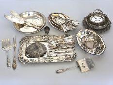 Silber: großes Konvolut Tafelsilber, Ziergegenstände, Besteck etc., vintage/antikZusammen ca. 5,5kg,