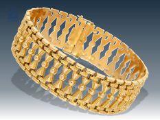 Armband: außergewöhnlich gearbeitetes, hochwertiges vintage GoldschmiedearmbandCa. 20cm lang, ca.